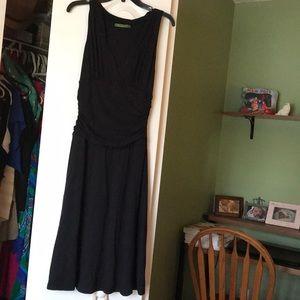 Anthropologie sleeveless black cocktail dress